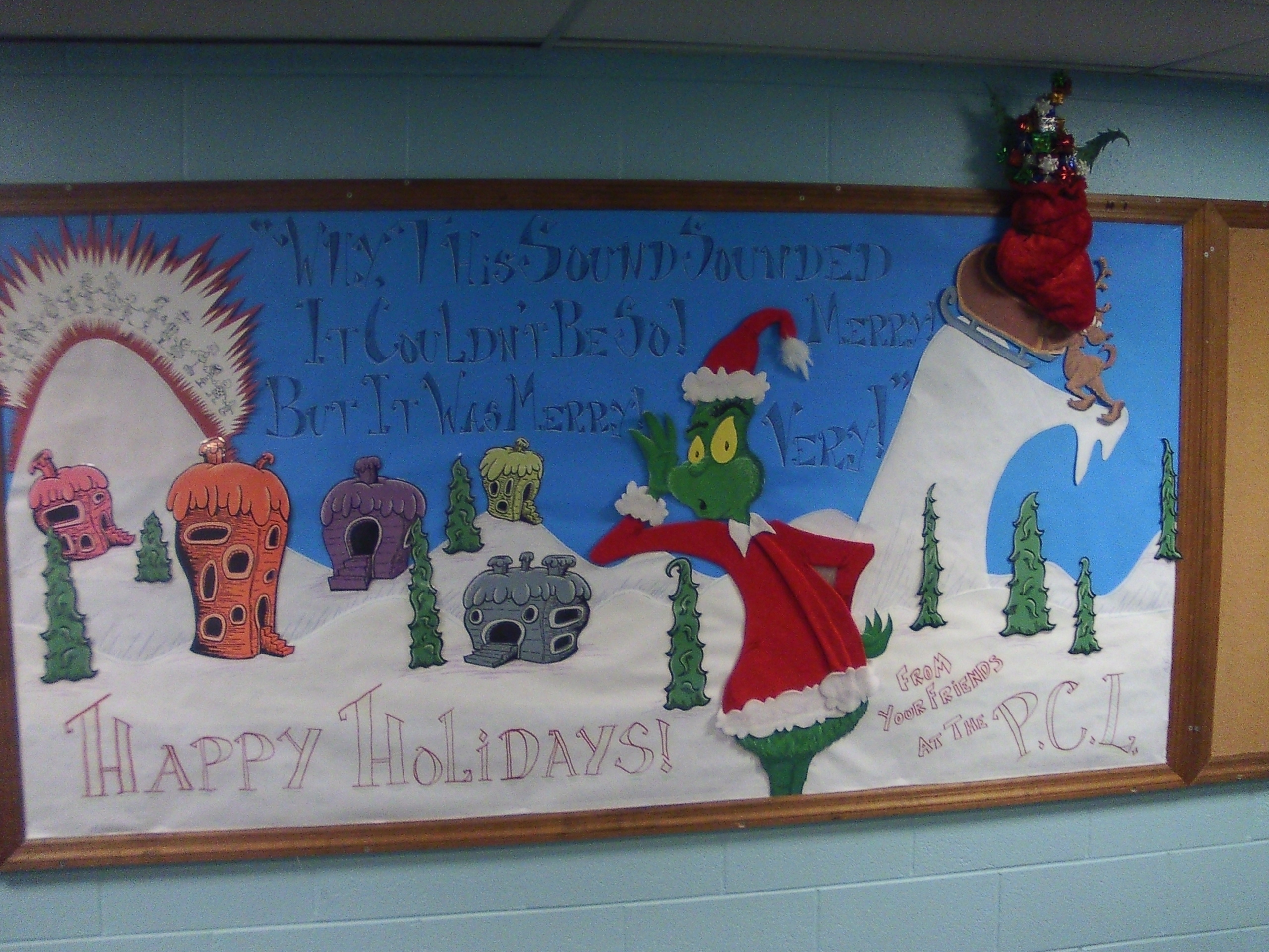 Grinch Bulletin Board