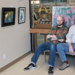 My father and I, on display at the Putnam County Library.
