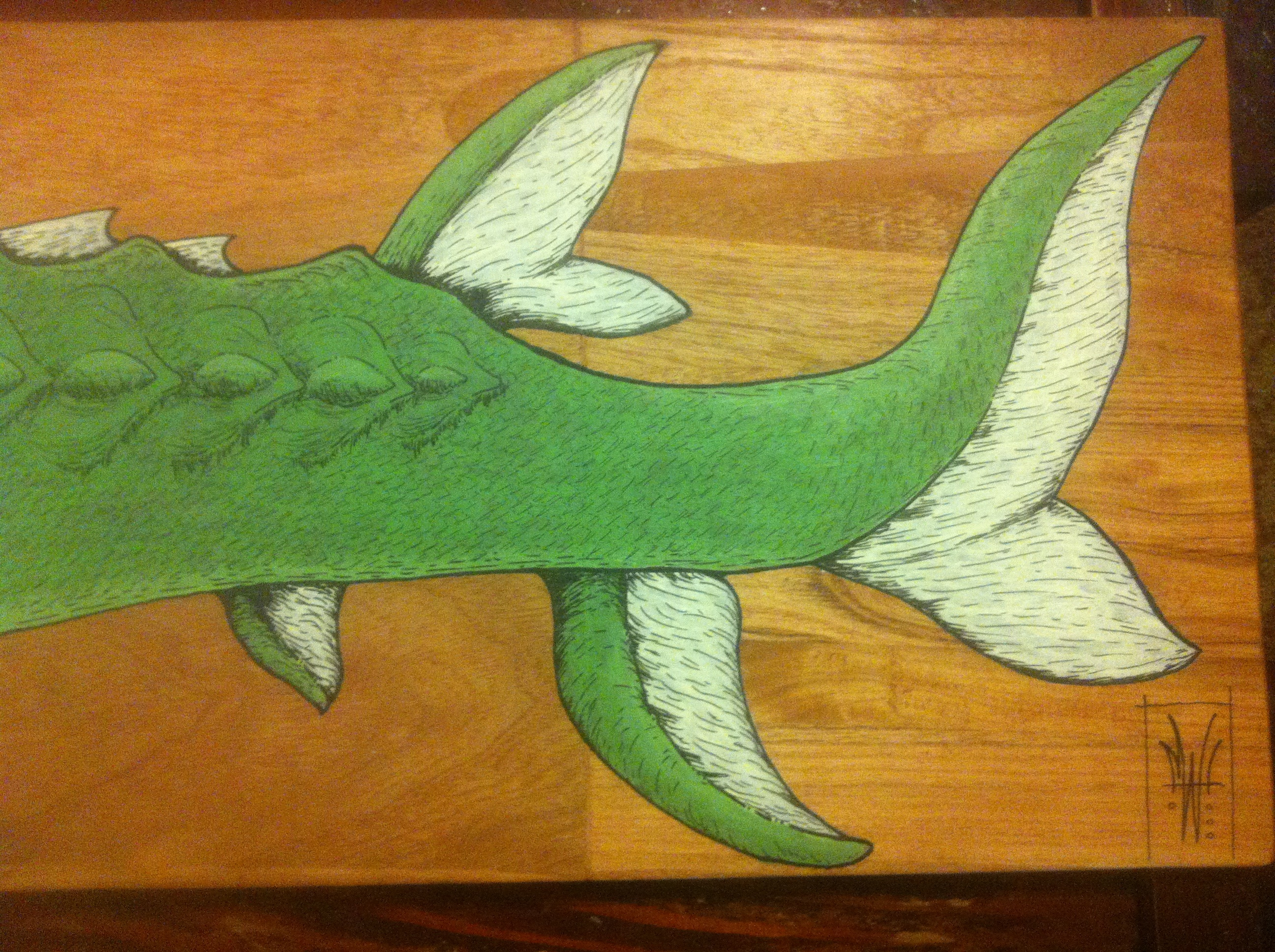 Finished close-up, tail